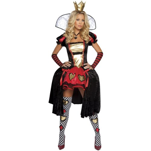 Wicked Wonderland Queen Costume - Small/Medium - Dress Size 2-6