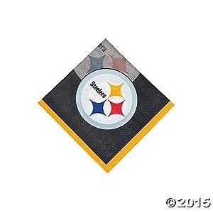 NFL Pittsburgh Steelers Beverage Napkins (32 Napkins) at SteelerMania