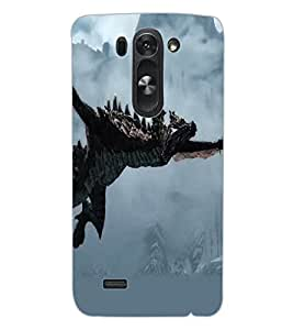 ColourCraft Dragon Design Back Case Cover for LG D722 K