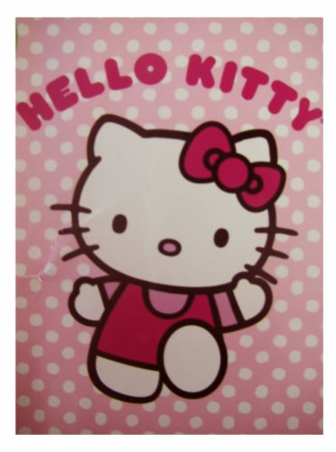 Sanrio Hello Kitty Blanket – Twin Size Kitty Micro Sherpa Throw – kitty Dots