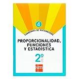 Cuaderno 4 de matemáticas. 2 ESO. Proporcionalidad, funciones y estadística