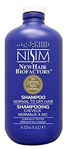Nisim NewHair Biofactors Normal to Dry Shampoo No Sulfates 33oz/L