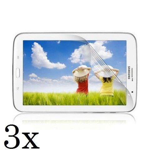 3x Displayschutzfolie für Samsung Galaxy Tab 3 7.0 GT-P3200 / GT-P3210 / SM-T210 / SM-T211 - Folie Kristallklar in bester Qualität inkl. 3x Mikrofasertuch von Saxonia