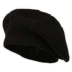 Cotton Rasta Tam Beret - Black OSFM