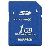 バッファロー SDカード 高速モデル 1GB Class6対応 RSDC-G1GC6