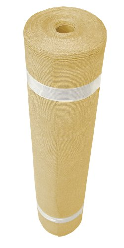 Coolaroo 12-Feet by 50-Feet Extra Heavy Shade Fabric, Wheat
