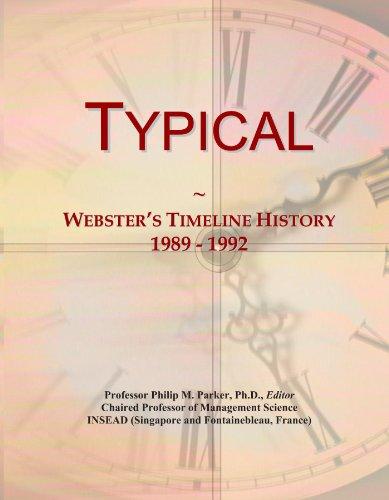 Typical: Webster's Timeline History, 1989 - 1992