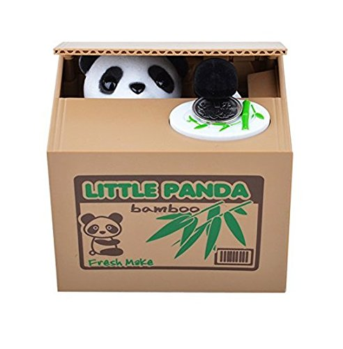 Mything(TM)1 Pcs Cute Stealing Coin Cat Money Box Piggy Bank(Panda) - 1