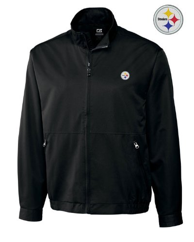 NFL Pittsburgh Steelers Men's CB WeatherTec Whidbey Jacket, Small, Black at Amazon.com