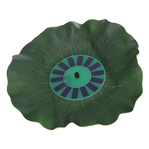 POTOLON 15.7*15.7*2.2 Lotus Leaf Floating Solar Power Fountain Water Pump For Pond Pool Garden Watering
