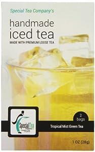 Special Tea Gourmet Premium Loose Leaf Iced Green Tea, Tropical Mist, 1 Ounce
