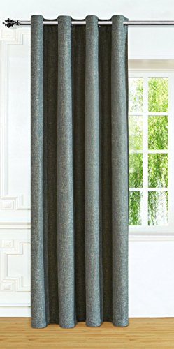 Linkedin Store Window Treatments Thermal Insulated Linen-Look Textured Grommets Curtain (52