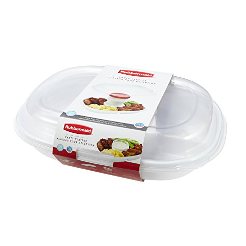 Rubbermaid Party Platter Party Tray, Clear (Appetizer Tray compare prices)