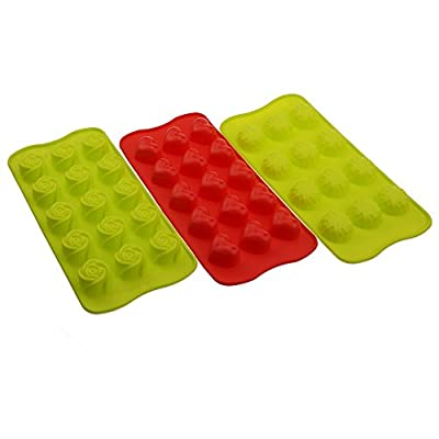 Wenwins silicone candy making molds chocolate molds 3pcs