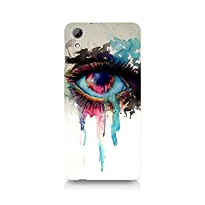 MOBICTURE Eyes Premium Designer Mobile Back Case Cover For HTC Desire 826