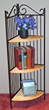 4D Concepts Metal and Wicker Shelf