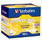 Verbatim Branded 4X DVD+RW Media 10 Pack in Jewel Case (94839)