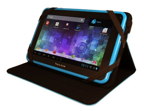 Visual Land Celebrity 7L - 7-Inch Tablet with 8GB Memory and Bonus Encase (Blue)
