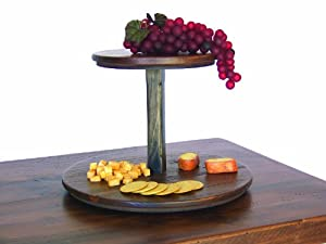 2 Tier Wooden Lazy Susan (Rouge Finish)