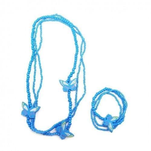 sg paris kid jewelry set kids jewelry set 1 neck+1 brac comb turquoise plastic