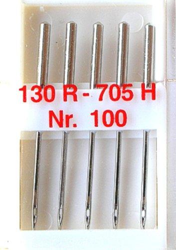 5 Nähmaschinennadeln Universal Nr.100 Flachkolben 130R/705H für Nähmaschine, 0101