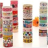 LANYUER 10 Kawaii 5M Tapes Mix Designs Cartoon Adhesive Tape Set for Scrapbooking/Craft
