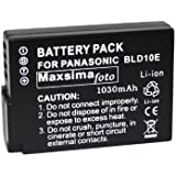 Maxsima - Battery for Panasonic DMC-GF2, GF2, G3, GX1, DMW-BLD10, DMW-BLD10E, 1030mAh BATTERY PACK. BLD10. Fully Compatible.
