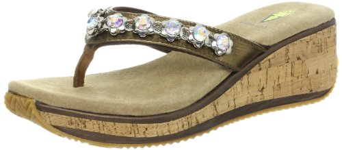 Volatile Women'S Pose Wedge Sandal,Bronze,7 B Us front-768422
