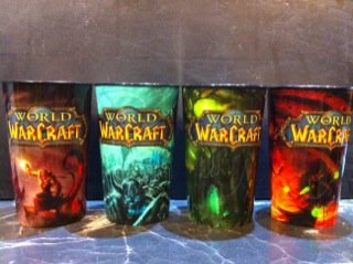 World of Warcraft Collectible Edition Cups Set of All 4 ..AM/PM