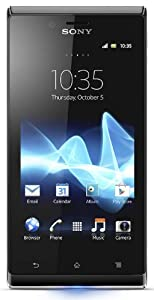 Sony Xperia J Smartphone (10,2 cm (4 Zoll) Touchscreen, Qualcomm, 1GHz, 512MB RAM, 5 Megapixel Kamera, Android 4.0) pink