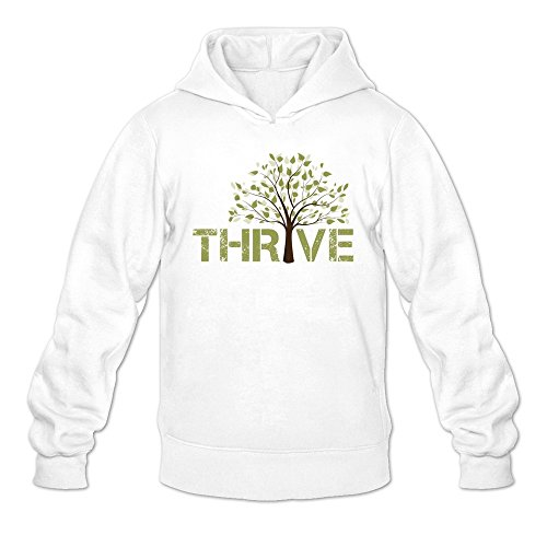 Man's Casting Crowns Thrive Album Green Tree Hoodie White (Casting Crowns Tickets compare prices)