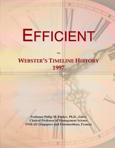 Efficient: Webster's Timeline History, 1997
