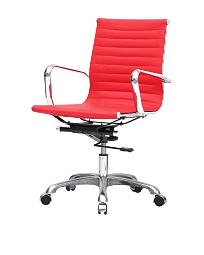 Manhattan Living Modern Conference nOffice Chair Mid Back, Red