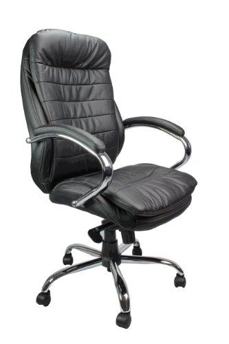 eliza tinsley 618ktag lbk fauteuil de bureau grand dossier rev tement cuir pi tement chrom. Black Bedroom Furniture Sets. Home Design Ideas