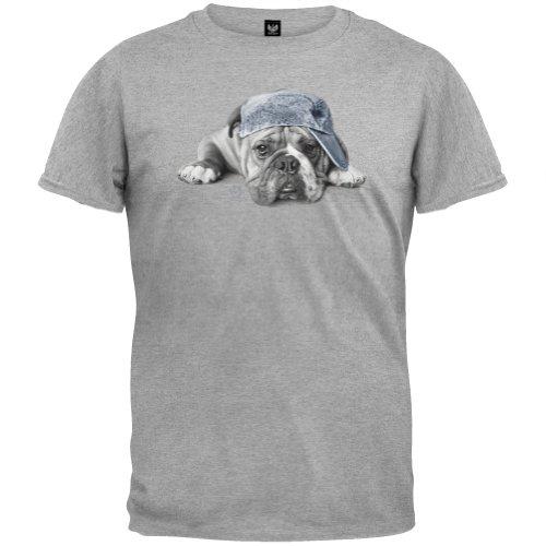 Animal World - Mens Oscar T-Shirt - Grey front-88837
