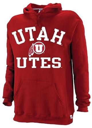 Buy NCAA Utah Utes Mens Dri-Power Fleece Pullover Hood by Russell Athletic