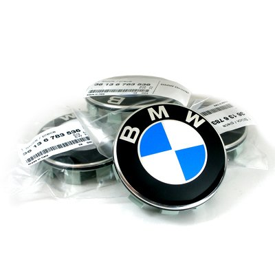 BMW New Style Wheel Center Caps for All BMW OEM Wheels, Set of 4 (Car Beyond Store)