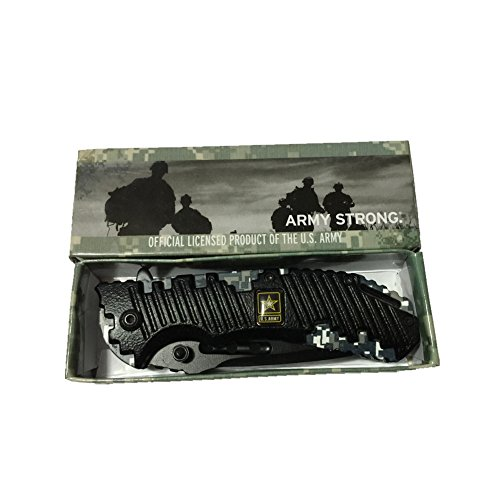 Camouflage Army Strong Official Licensed Tactical Folding Knife. New in Box. Top Quality