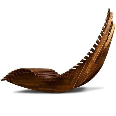 Schwungliege aus Akazienholz - Gartenliege Sonnenliege Relaxliege von Deuba bei Gartenmöbel von Du und Dein Garten
