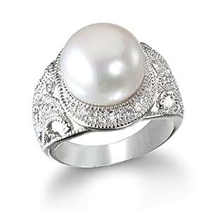 Big White Freshwater Pearl Ring