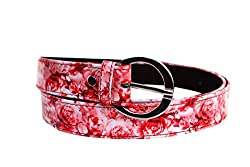 Red Floral print belt to match with your dress