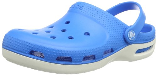 Crocs Unisex-Adult Duet Plus Clogs 12212-4G7-700 Ocean/Oyster 11 UK, 45 EU, 11 US, Regular