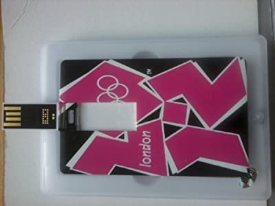 4GB London 2012 Olympic and Paralympic Games Credit Card Style Memory Stick USB 2.0 Flash Drive (Black Background) . Presented In A Gift Box. from NUT
