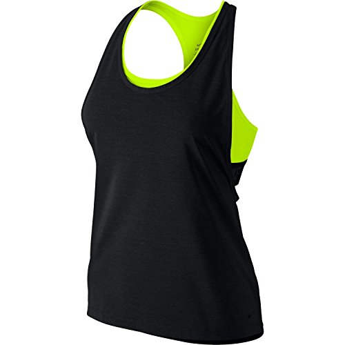 Women's 2-in-1 Pro Inside Loose Tank Top , Black Heather/Volt, X-Small алексей алешко недвижимость inside 2