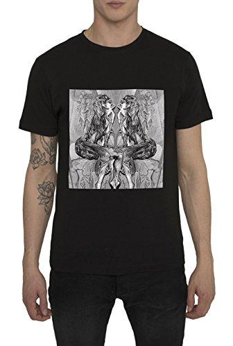 Camisetas-de-Algodn-para-Hombre-T-Shirt-Fashion-Rock-Camiseta-Negra-con-Estampada-DARK-LOVE-T-Shirts-Designer-Cool-Ropa-Moda-Moderna-para-Hombres-Cuello-redondo-Manga-corta-S-M-L-XL-XXL
