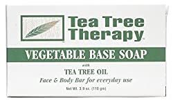Tea Tree Therapy Vegetable Base Soap With Tea Tree Oil 3.9 Oz Pack Of 9