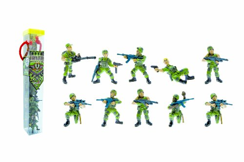 Plastoy - Soldats commando Opération jungle - Tubo de 10 figurines