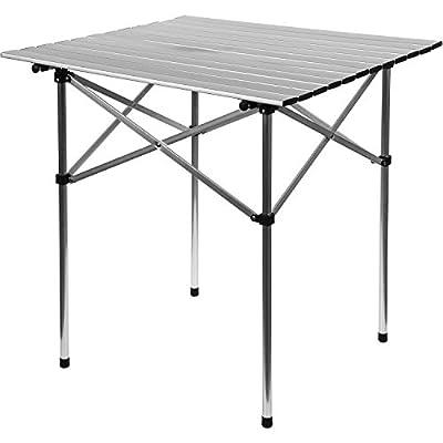 GRIZZLY PYLE® Campingtisch, Aluminium, 70x70x70cm, inkl. Tragetasche