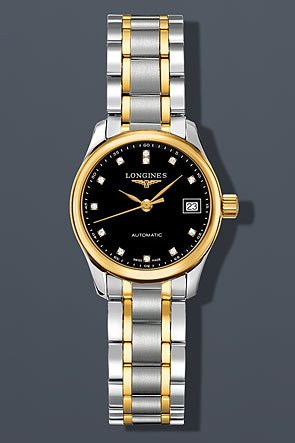 Longines Master Collection Automatic Steel and 18k Gold with Diamond Markers Women's Watch