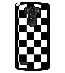 Fuson Premium Game of Chess Metal Printed with Hard Plastic Back Case Cover for LG G3